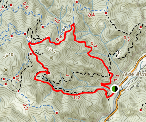 Mine Hill and Deep Gulch Loop Map