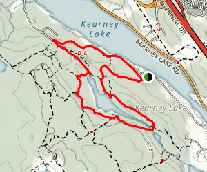 Maskwa Trails and Charlie's Lake Loop Map