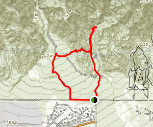 North Etiwanda Falls and Preserve Loop Map