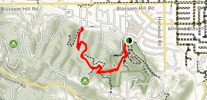Santa Rosa, Sky Lane and Valley View Trails Map