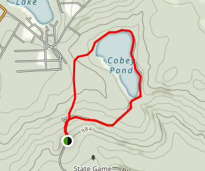 Cobey Pond Trail Map