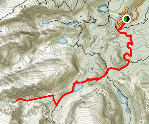 Andrews Glacier Trail Map