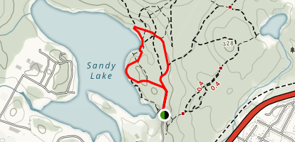 Sandy Lake Park Loop Trail Map