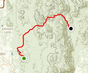 Fish Springs to Sunrise Pass Map