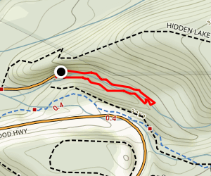 Little Zigzag Falls Trail Map
