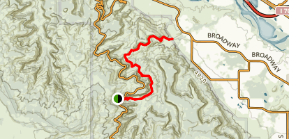 Upper Monument Canyon Map
