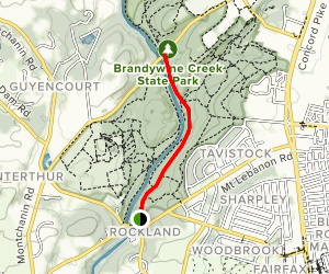 Brandywine Creek: Rockland Road to Thompson Bridge Road Map