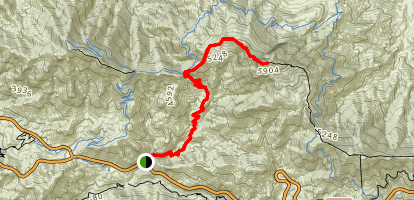 Strawberry Peak via Colby Canyon Map