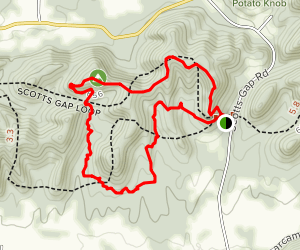 Scotts Gap Loop Trail Map