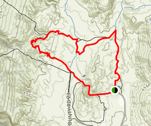 K-Lynn Cameron, Big Hole Wash and Sinking Son Loop Map