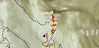 Glacier Point Trail Map