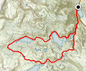 Agnew Lake, Gem Lake, Waugh Lake and Clark Lakes Loop Trail Map