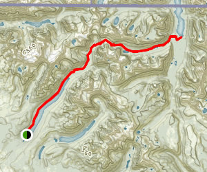 Bowman Lake Trail to Upper Waterton Lake Map