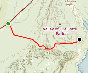 Valley of Fire Scenic Byway Map