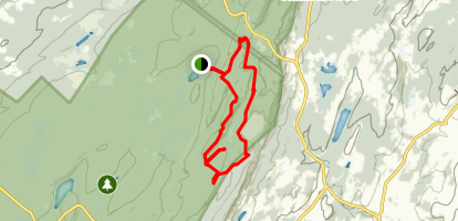 Blue Dot Trail, Appalachian Trail, Iris Trail Loop From Sawmill Lake Map