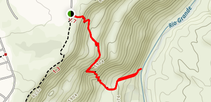 Blue Dot Trail to the Rio Grande Map