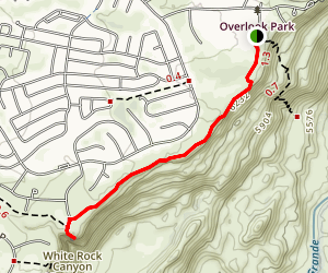White Rock Canyon Rim Trail Map