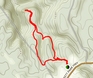 Pogue Creek Canyon Overlook Trail Map