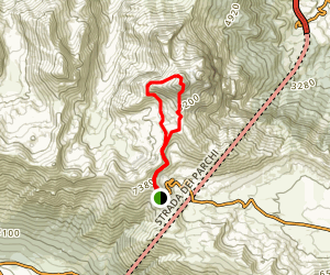 Ascent Corno Grande Map