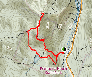 Lonesome Lake Loop and Mount Canon Map