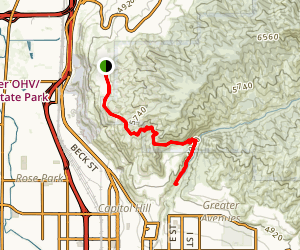 Tunnel Springs to City Creek Canyon Map