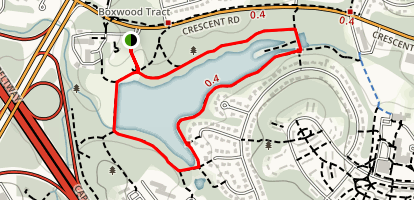 Greenbelt Lake Trail Map