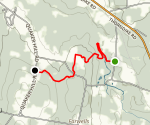Hills to Sea Trail: Sandy Stream Leg Map