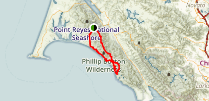 Point Reyes Loop Map