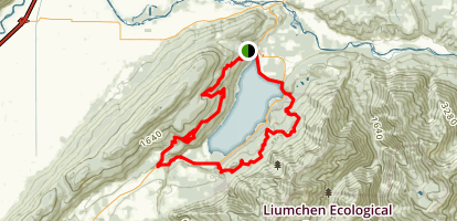 Around the Lake 30km Route Map