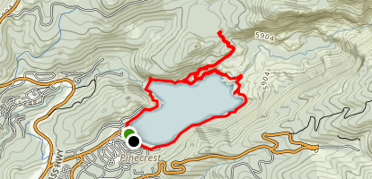 Pinecrest Lake Loop and Catfish Lake Side Hike Map