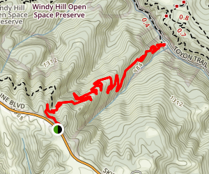 Razorback Ridge Trail Map