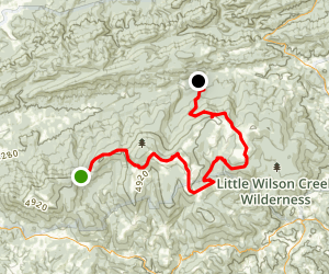 Appalachian Trail: Whitetop to Fairwood Road Map