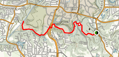 Grindstone to Hinkson Creek Trail and Mu Rec Trail Map