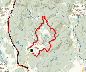 Gentiane and Clinique du Coureur Loop Map