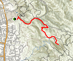 Mission Peak from Ohlone College Map