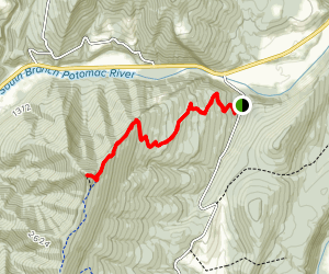 North Fork Mountain Trail to Chimney Top Map