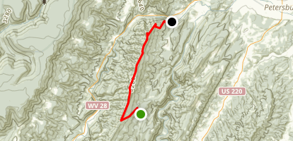 North Fork Mountain Trail Map