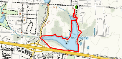 Lake Remembrance Loop Trail Map