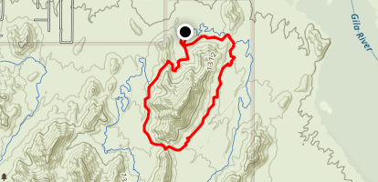 Long and Technical Trail Loop Map