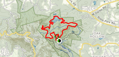 Sulpher Springs Trail to North Lake Trail to Brissy Ridge Trail Loop Map