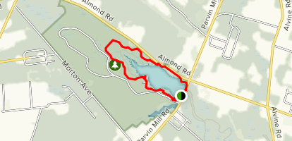 Parvin Lake Via Long Trail Loop Map