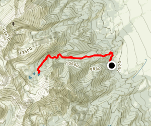 Lakes of the Clouds Alternate Route Map