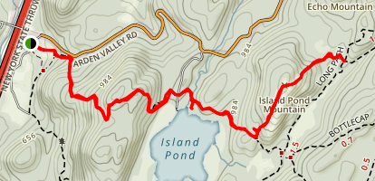 Island Pond Mountain Map