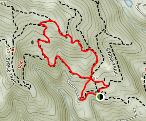 Byrne Trail and Hardwood Trail Loop Map