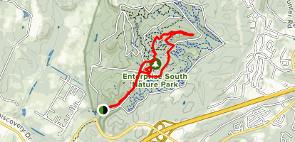 Poe Run Path and Deer Hollow Trail Map