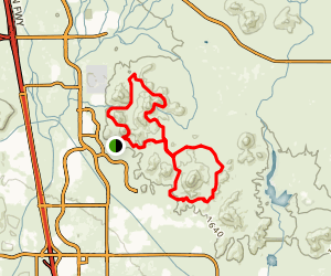 Great Horned Owl Loop to Dixie Mountain Loop Map