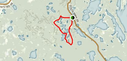 Spruce Island Lake Trail Map