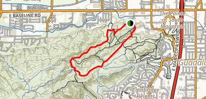 Javelina to Pima Wash and Beverly Canyon Loop Map