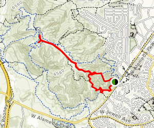 Green Mountain via Green Mountain and Hayden Trail Loop Map