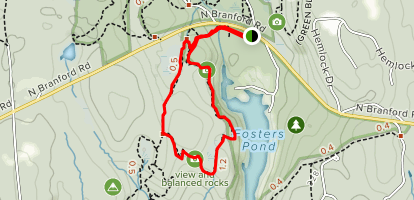 Chatfield Hollow Loop Map
